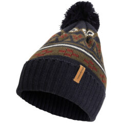 Jacquard-knitted wool beanie with pattern